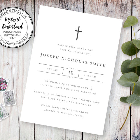 Baptism & First Communion Stationery