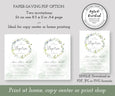 Greenery Baptism Invitation, Boho Eucalyptus, Gender Neutral, Instant Download, Editable Template, File Download options