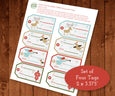 Christmas Holiday Gift Tags, Digital Christmas Tags, Tag Printable