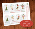 Christmas Gift Tag Digital, Instant Download Digital Gift Tag Printable