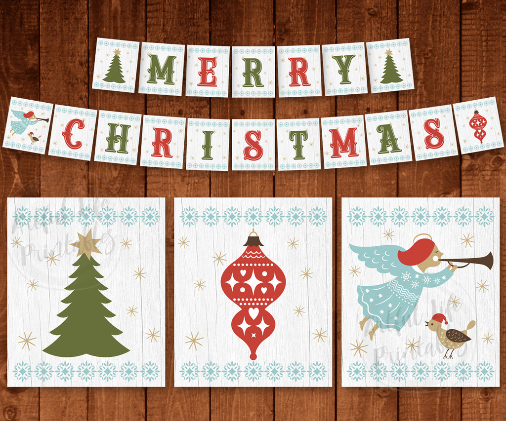 It is a graphic of Simplicity Merry Christmas Banner Printable