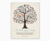 The Roots of a Family Tree Wall Art, blue type