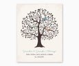 Grandma and Grandpa's Blessing, Grandchildren Family Tree Wall Art, blue type