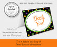 Thank you card editable template, Artful Life Designs