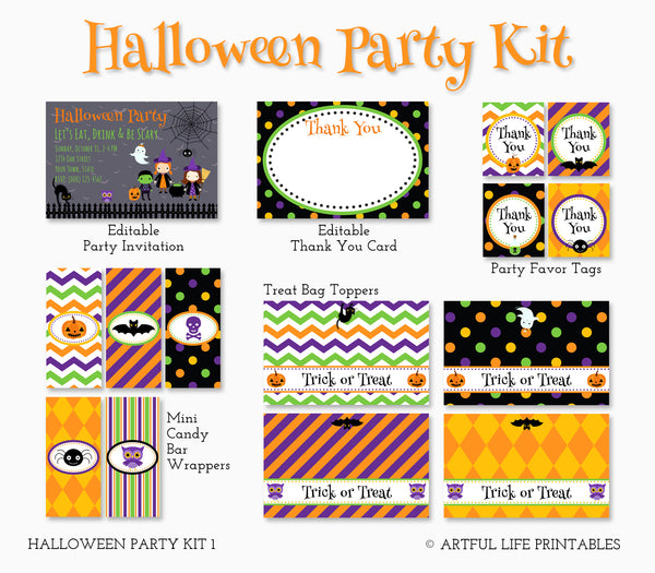 Artful Life Halloween Party Printables