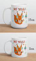 Personalized Hot Chocolate Mugs, Squirrel Holiday Ceramic Mugs