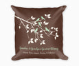 Grandma and Grandpas Greatest Blessings Decorative Pillow with Grandchildrens names shown in brown