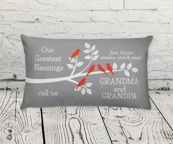 Our Greatest Blessings, Grandparents Decorative Pillow