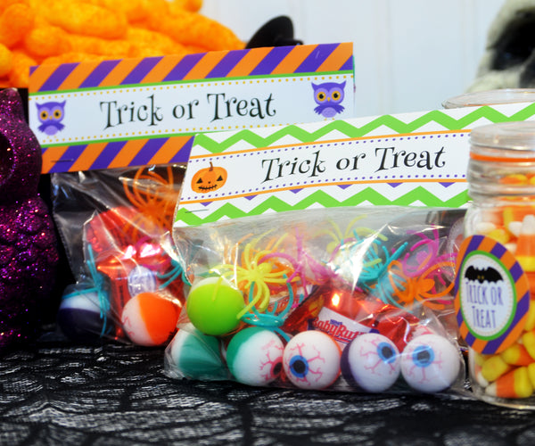 Halloween Treat Bag Toppers, Digital PDF File