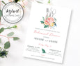 Floral Wedding Rehearsal Dinner Template 5 x 7