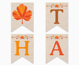 Happy Thanksgiving Printable Banner, Instant Download Digital Banner