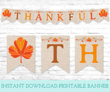Thankful Printable Banner, Instant Download Digital Banner