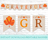 Grateful Printable Banner, Instant Download Digital Banner