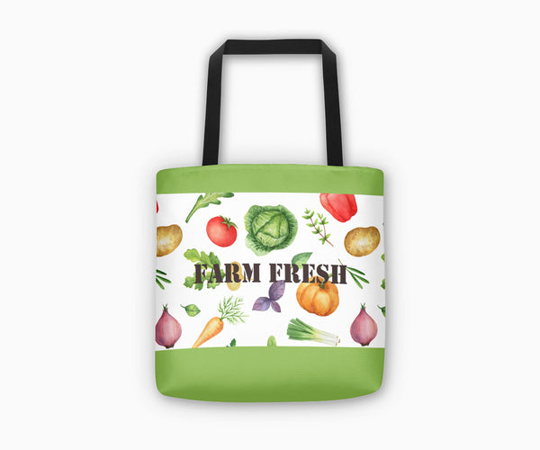 Farm Fresh Market Tote Bag Front