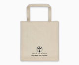"""Some Groceries But Mostly Wine"" Market Tote Bag Back"