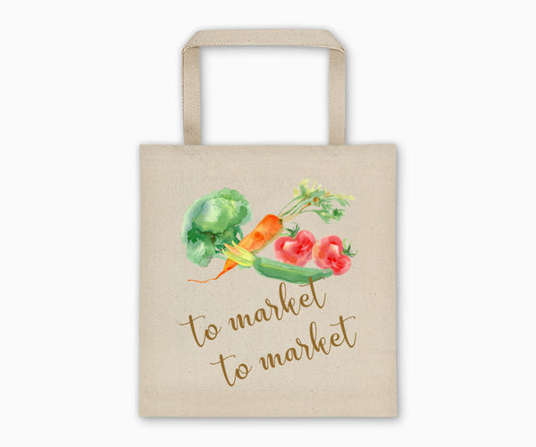 """To Market To Market"" Tote Bag Front"
