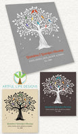 Personalized Grandparent Blanket Family Tree with Grandkids Names Artful Life Designs