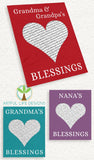 Personalized Grandparent Blanket from Grandkids Artful Life Designs