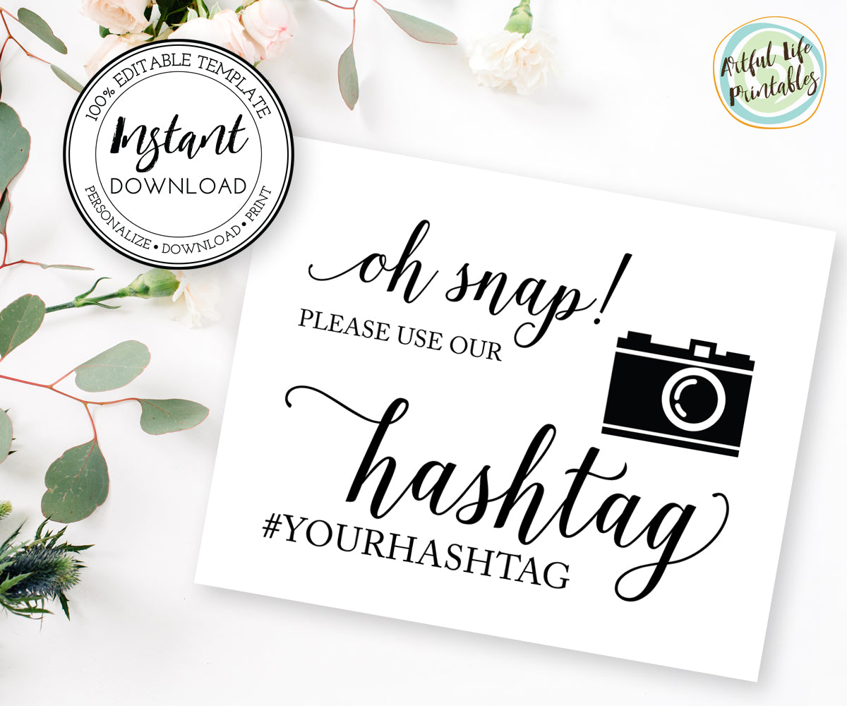 Oh snap wedding sign printable