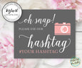 Wedding hashtag printable