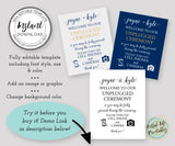 unplugged wedding welcome sign template