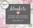 outdoor wedding ceremony blanket sign template