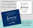 Heaven wedding memorial sign template