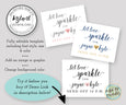 Let love sparkle sparkler send off sign template