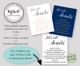 lets eat donuts, donut sign template, editable wedding sign