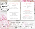5 x 7 wedding hand fan program template, change text font color program fan