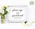 Guest Board Wedding Sign Printable