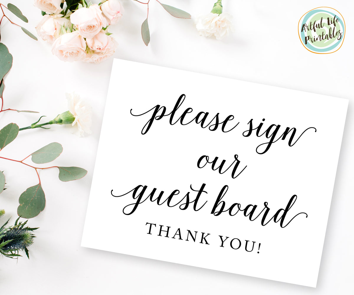 Please Sign Our Guest Board Wedding Sign Printable