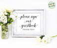 Please sign our guestbook wedding guestbook sign printable