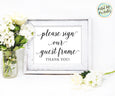 please sign our guest frame printable wedding sign
