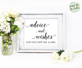 Advice Sign Wedding Printable