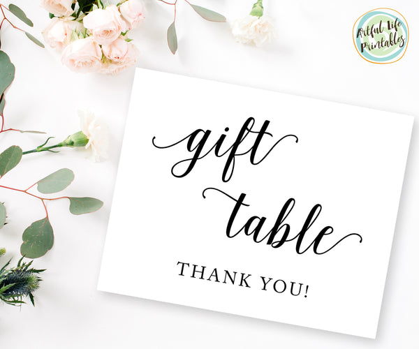 Wedding Gift Table Sign, Wedding Printable