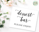 Dessert Bar Sign Wedding Dessert Bar Printable