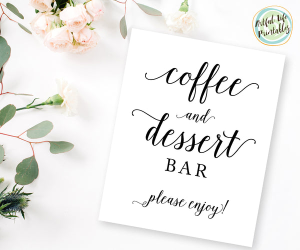 Coffee and Dessert Bar Sign printable