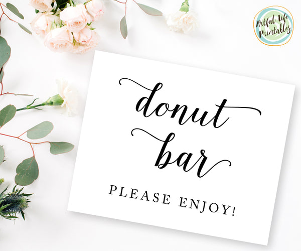 Donut Bar please enjoy sign printable