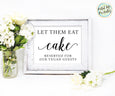 Vegan Wedding Cake Sign Printable Let Them Eat Cake