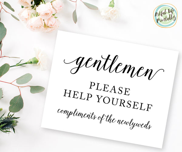 mens bathroom sign, bathroom sign wedding printable