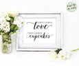 Cupcake sign Wedding printable, First Comes Love Then Comes Cupcakes