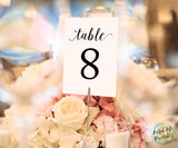 Wedding Table Numbers 1-30 Printable