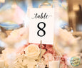 Wedding Table numbers printable