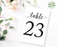 Table numbers printable, wedding printable
