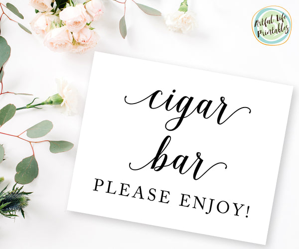 Cigar Bar Sign, Wedding Printable