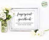 Fingerprint guestbook sign, guest book sign, Wedding printable