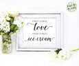 Ice cream bar printable, First comes love then comes ice cream sign