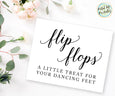 flip flops a little treat for your dancing feet wedding printable