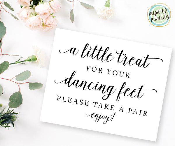 a little treat for your dancing feet flip flops sign printable